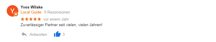 ADU Inkasso Google Bewertung 3