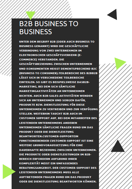 B2B-Business to Business