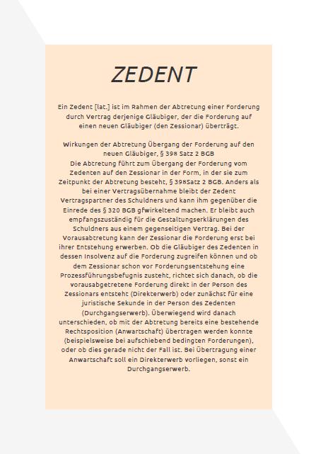 Zedent